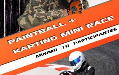 Paquete de paintball y karting